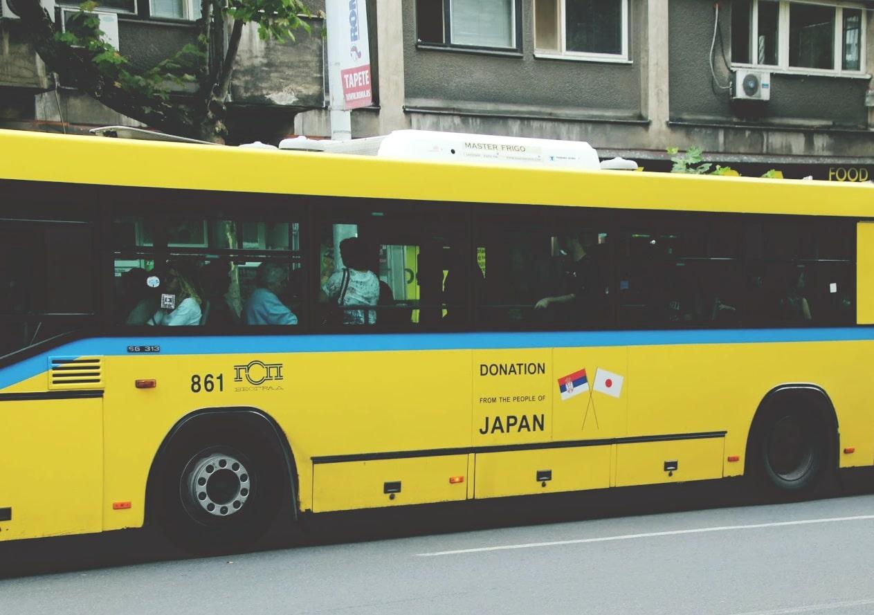 Minimal Traveler, Serbia, bus, japan