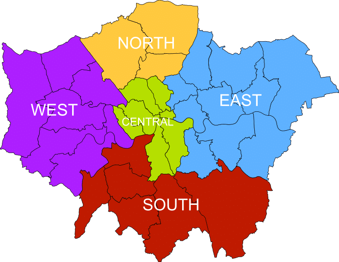 london, area map, wikipedia