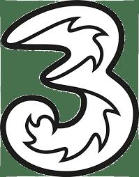 three, logo