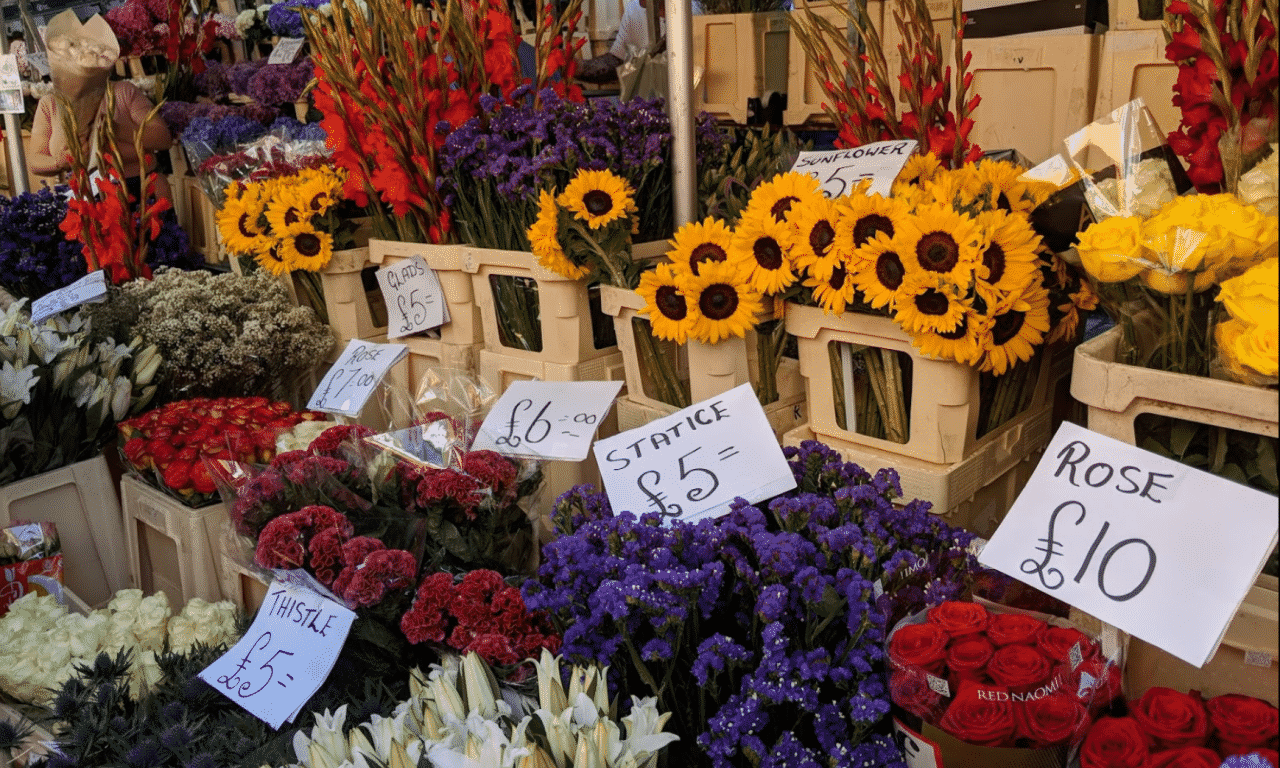 minimal traveler, london street market, Colombia Road Flower Market