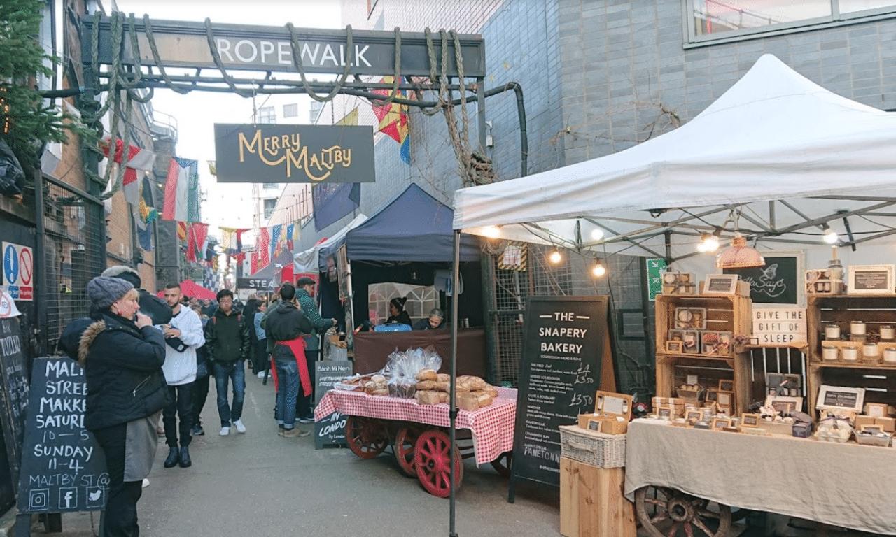 minimal traveler, london street market, Maltby Street Market